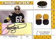 2003 Leaf Certified Materials Fabric of the Game #40JN L.C. Greenwood AU/68