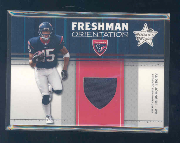2003 Leaf Rookies and Stars Freshman Orientation Jersey #FO16 Andre Johnson