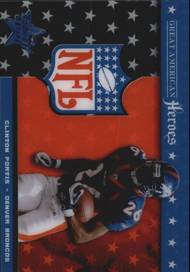 2003 Leaf Rookies and Stars Great American Heroes #GA7 Clinton Portis