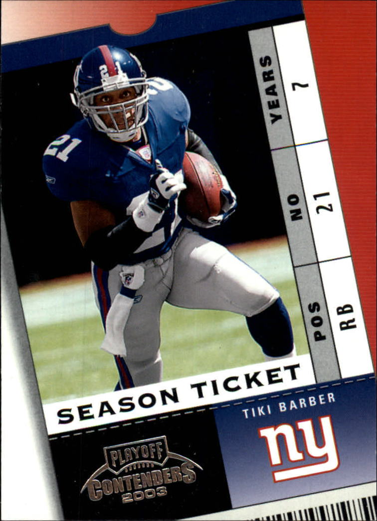 2003 Playoff Contenders #5 Tiki Barber
