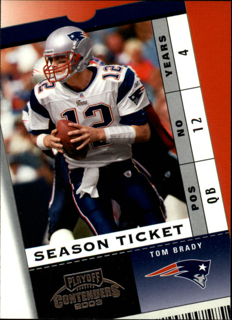 2003 Playoff Contenders #22 Tom Brady