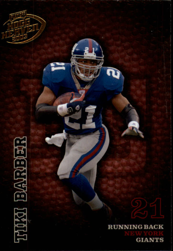2003 Playoff Hogg Heaven #95 Tiki Barber