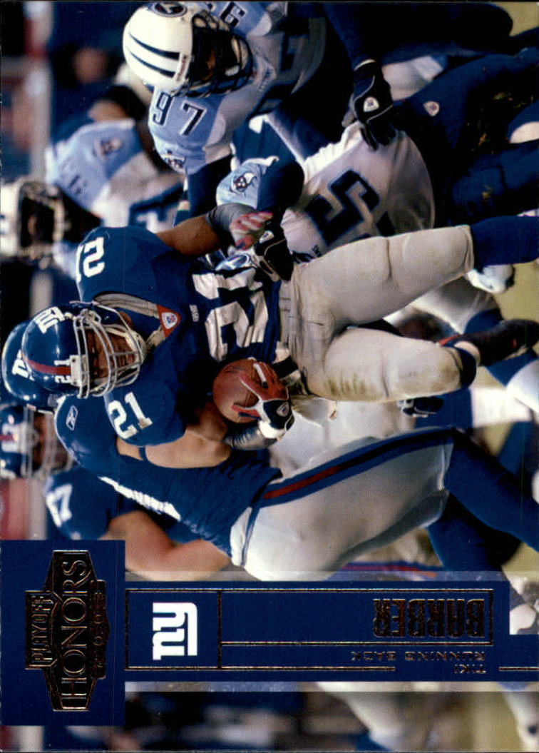 2003 Playoff Honors #86 Tiki Barber