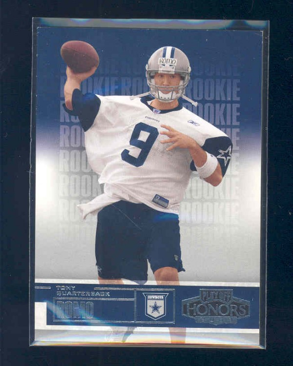 2003 Playoff Honors #107 Tony Romo RC front image