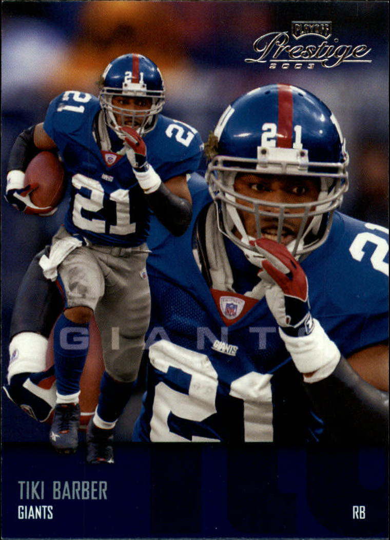 2003 Playoff Prestige #92 Tiki Barber