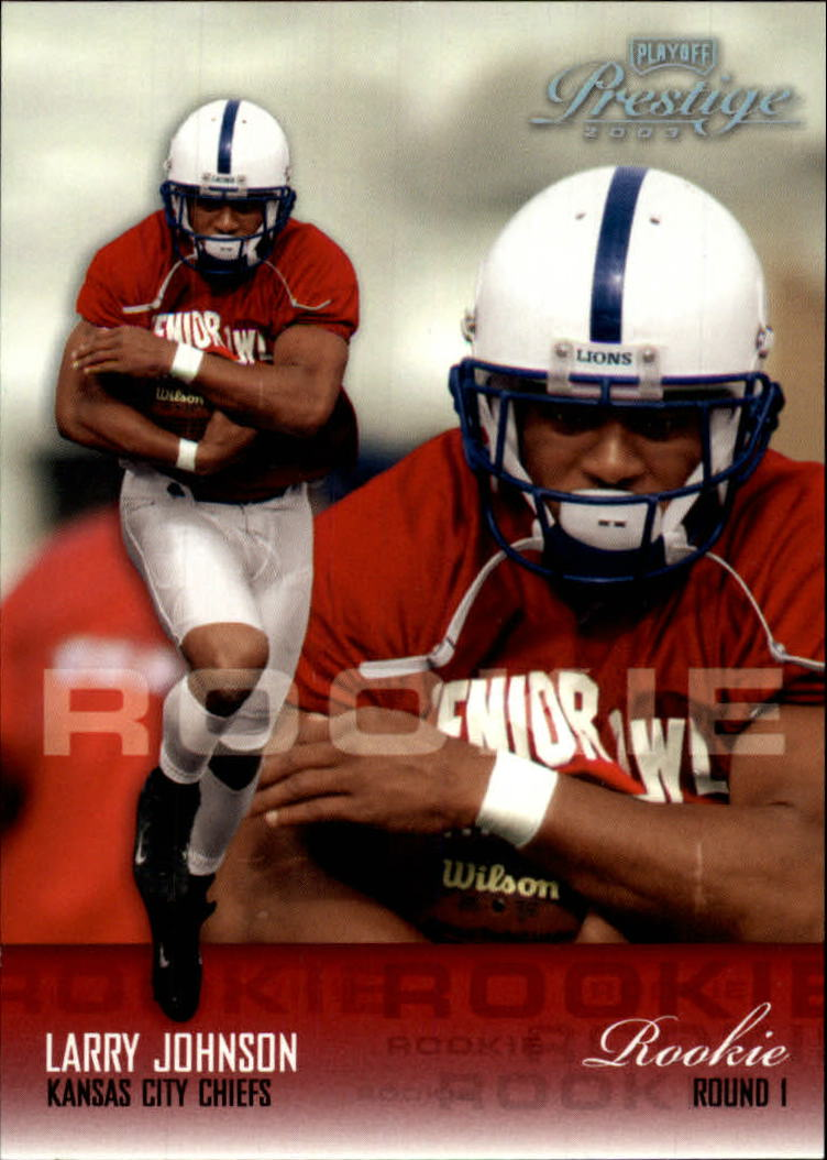 2003 Playoff Prestige #163 Larry Johnson RC front image