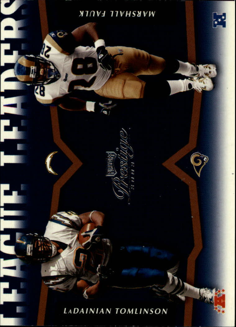 2003 Playoff Prestige League Leader Tandems #LLT7 LaDainian Tomlinson/Marshall Faulk