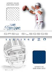 2003 Playoff Prestige Turning Pro Jerseys #TP1 Drew Bledsoe