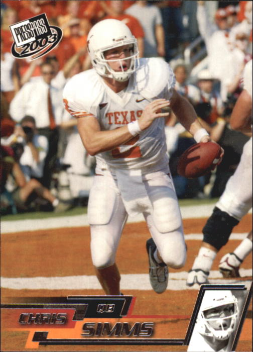 2003 Press Pass #10 Chris Simms