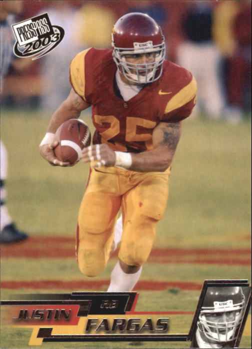2003 Press Pass #15 Justin Fargas