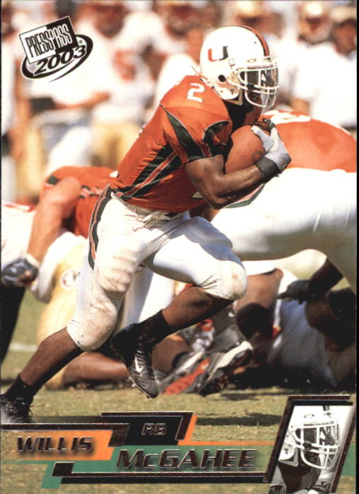 2003 Press Pass #18 Willis McGahee