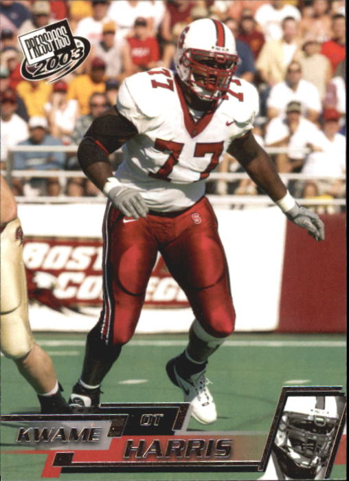 2003 Press Pass #35 Kwame Harris