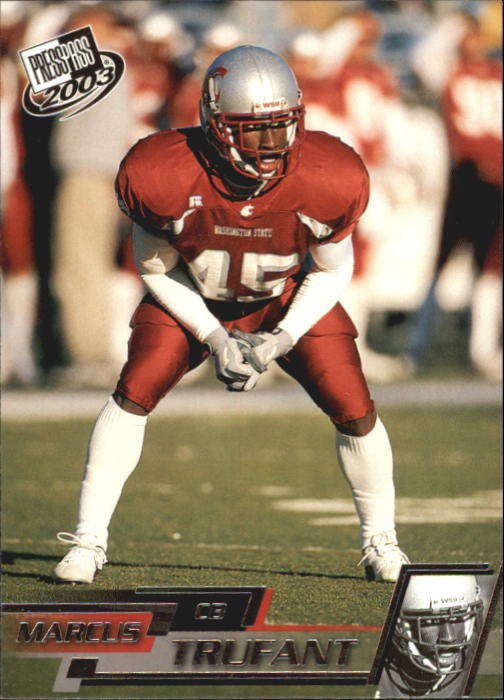 2003 Press Pass #39 Marcus Trufant
