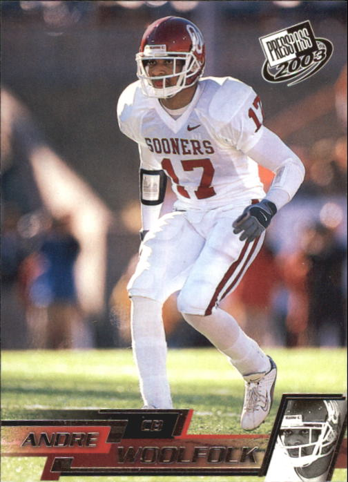 2003 Press Pass #40 Andre Woolfolk