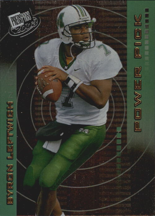 2003 Press Pass #47 Byron Leftwich PP