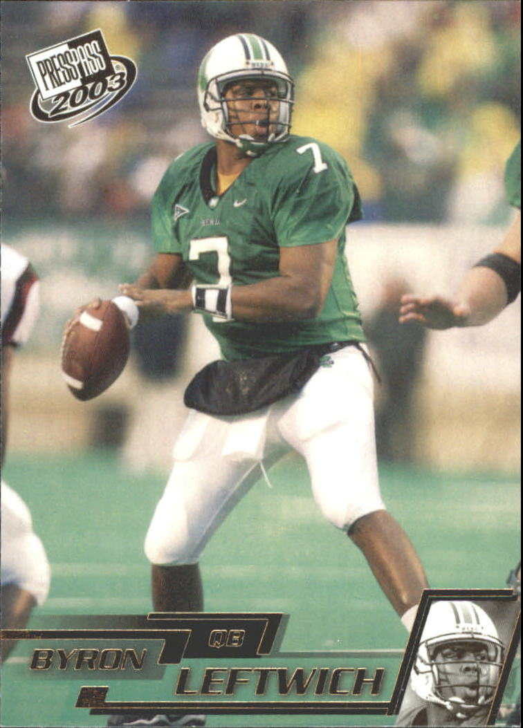 2003 Press Pass Gold Zone #G7 Byron Leftwich