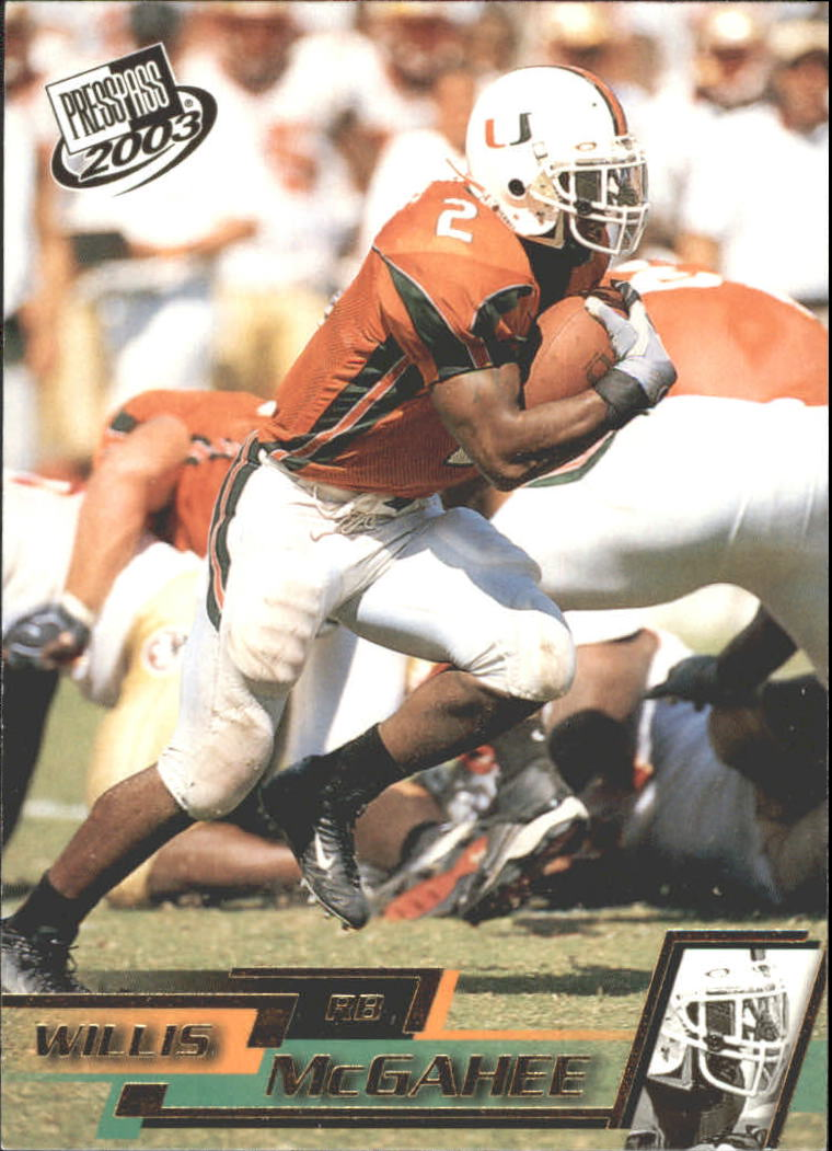 2003 Press Pass Gold Zone #G18 Willis McGahee
