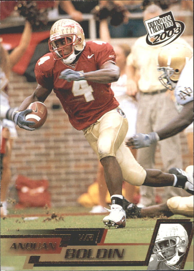 2003 Press Pass Gold Zone #G22 Anquan Boldin