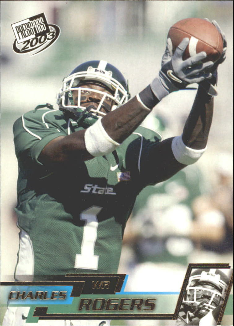 2003 Press Pass Gold Zone #G28 Charles Rogers