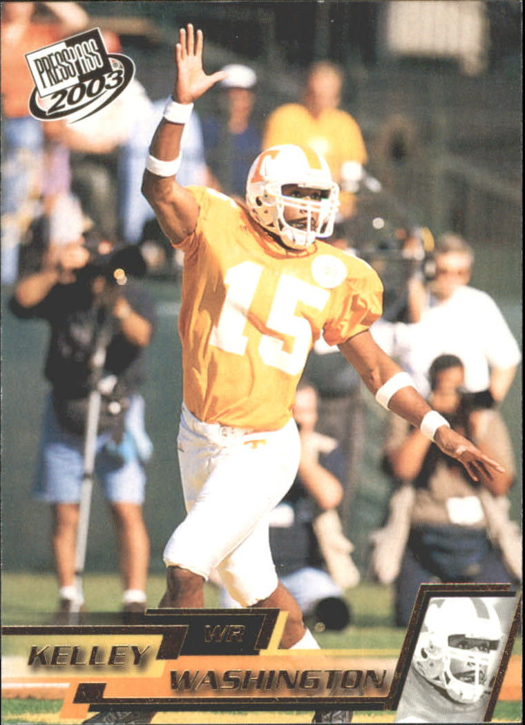 2003 Press Pass Gold Zone #G29 Kelley Washington