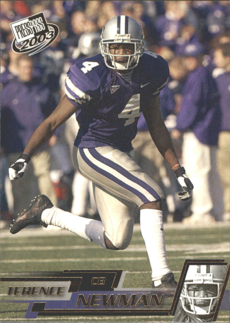 2003 Press Pass Gold Zone #G38 Terence Newman