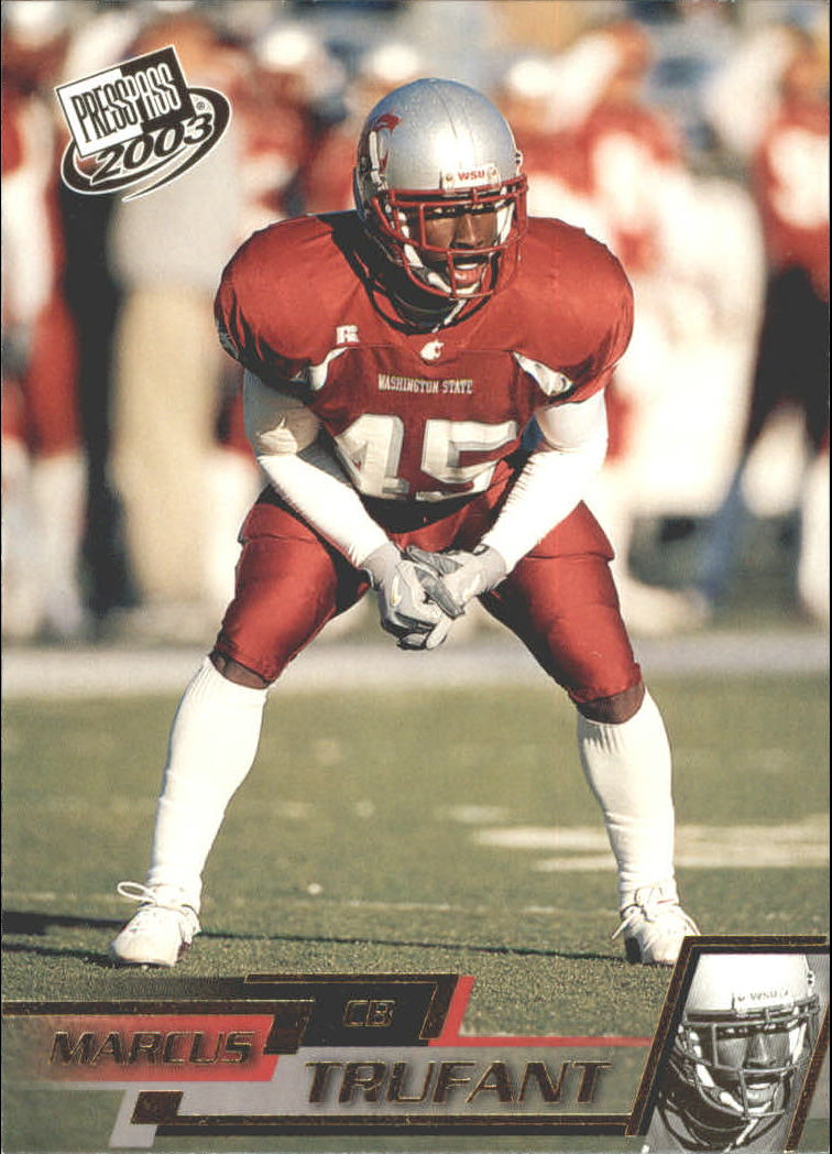 2003 Press Pass Gold Zone #G39 Marcus Trufant