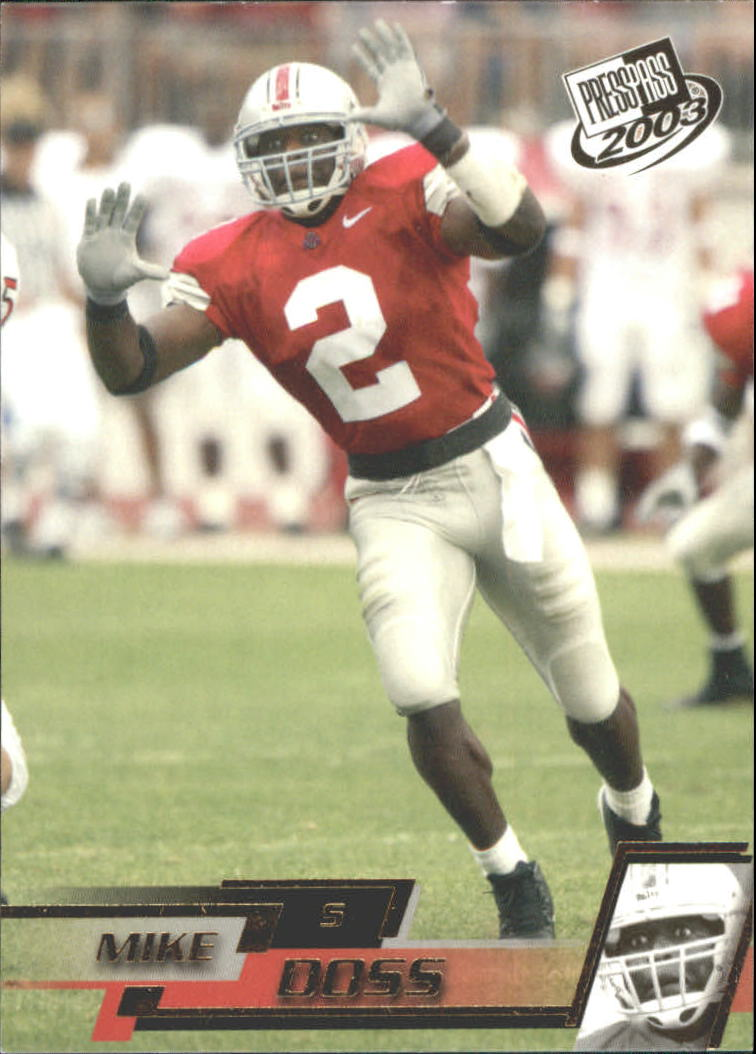 2003 Press Pass Gold Zone #G44 Mike Doss