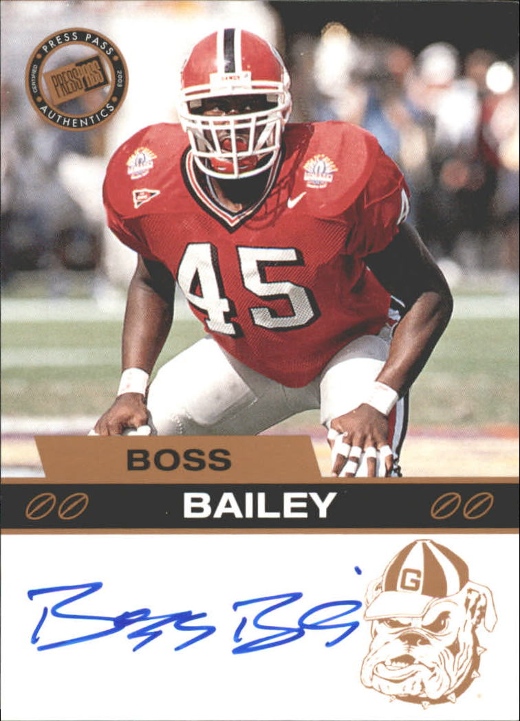 2003 Press Pass Autographs Bronze #1 Boss Bailey