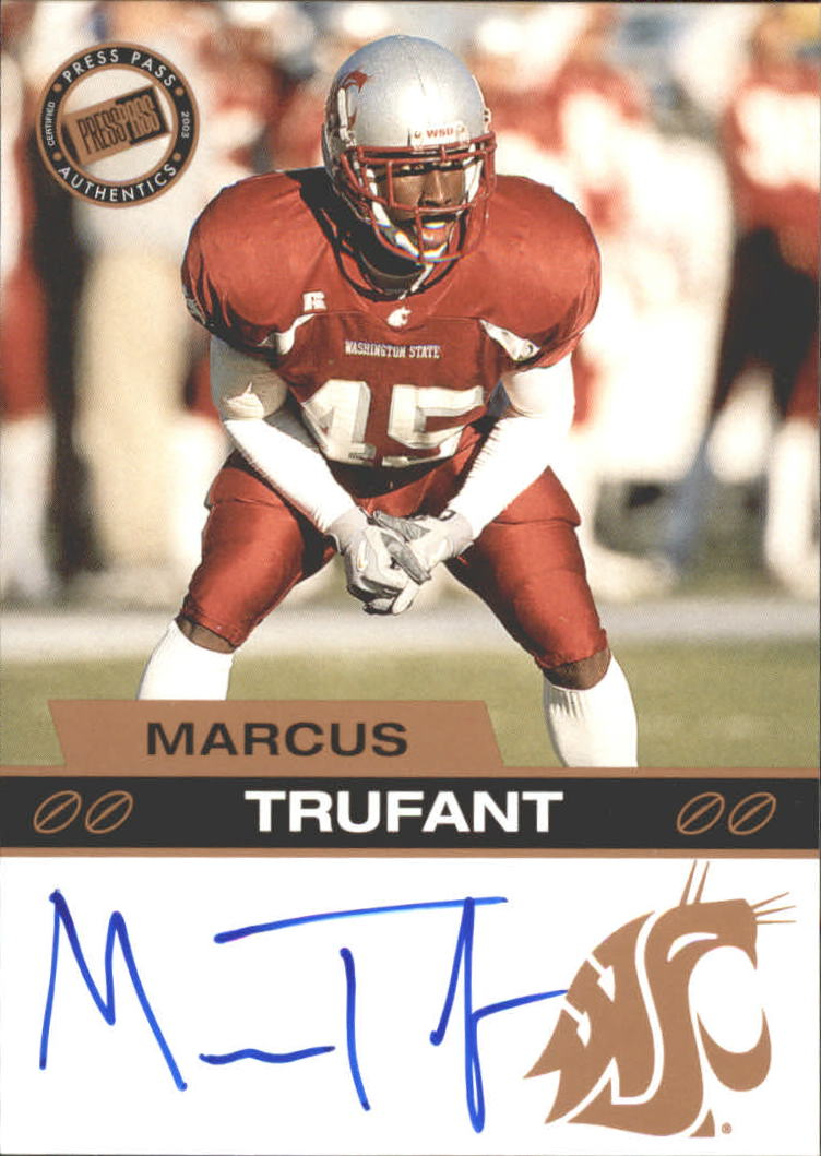 2003 Press Pass Autographs Bronze #55 Marcus Trufant