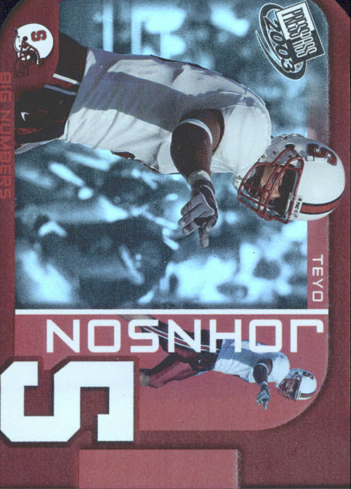 2003 Press Pass Big Numbers #BN16 Teyo Johnson