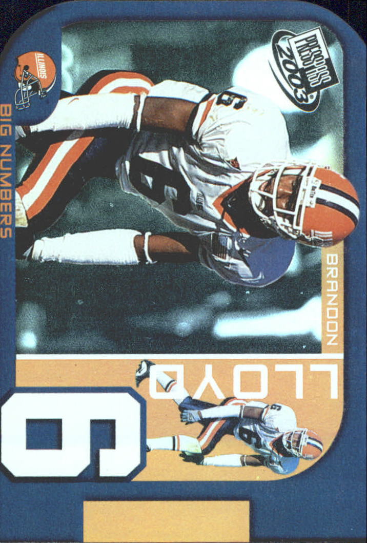2003 Press Pass Big Numbers #BN20 Brandon Lloyd