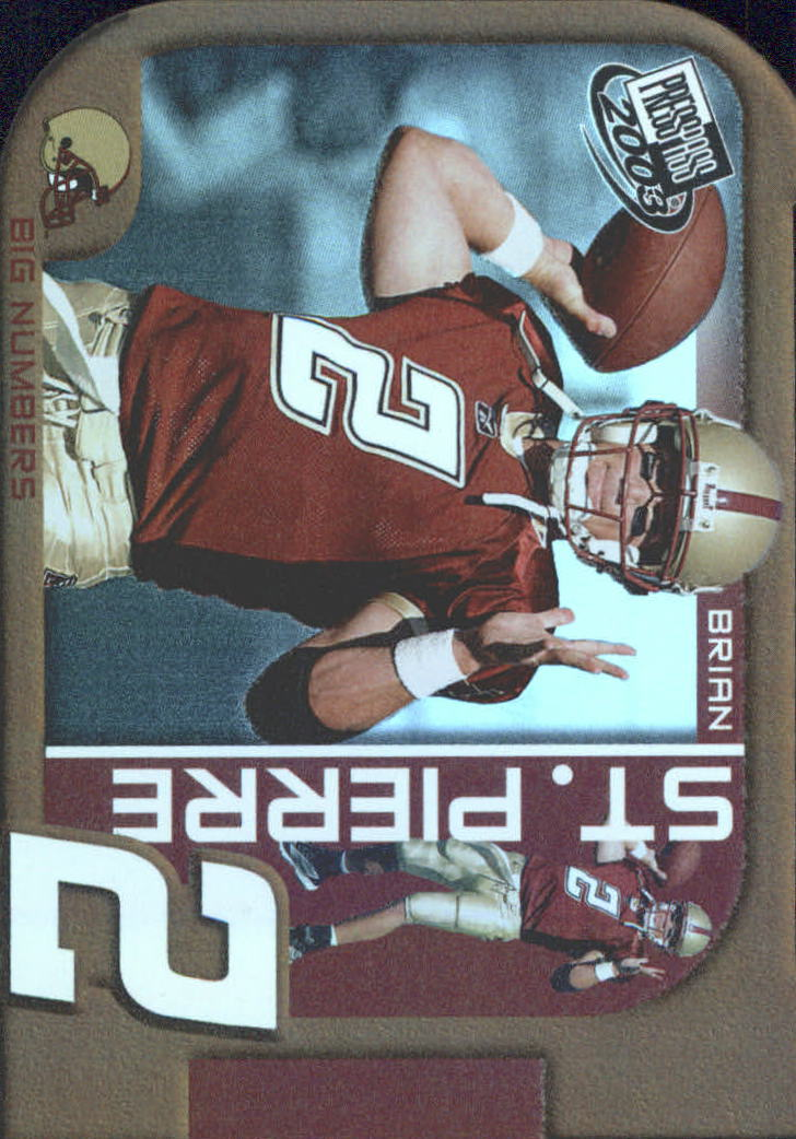 2003 Press Pass Big Numbers #BN30 Brian St.Pierre