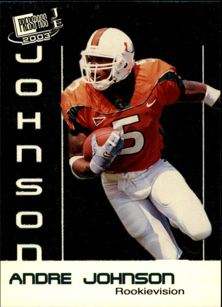 2003 Press Pass JE Rookie Vision #RV6 Andre Johnson