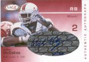 2003 SAGE Autographs Red #A29 Willis McGahee/360