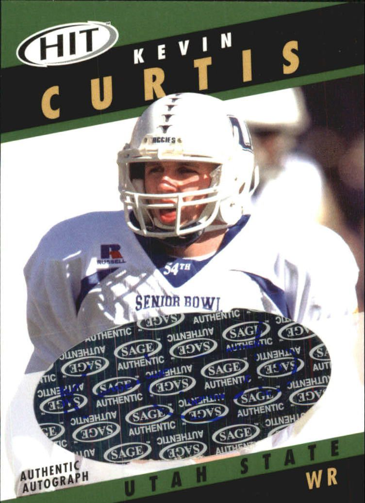 2003 SAGE HIT Autographs Emerald #A33 Kevin Curtis