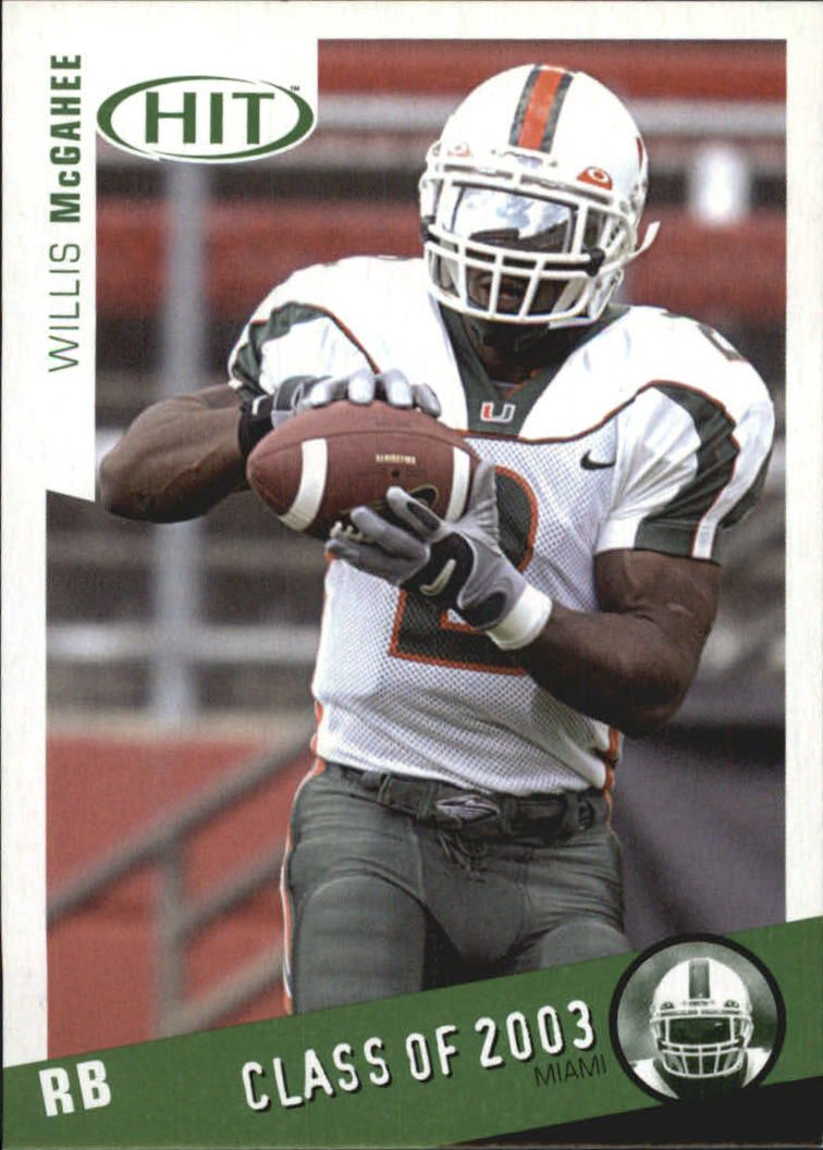 2003 SAGE HIT Class of 2003 Emerald #C2 Willis McGahee