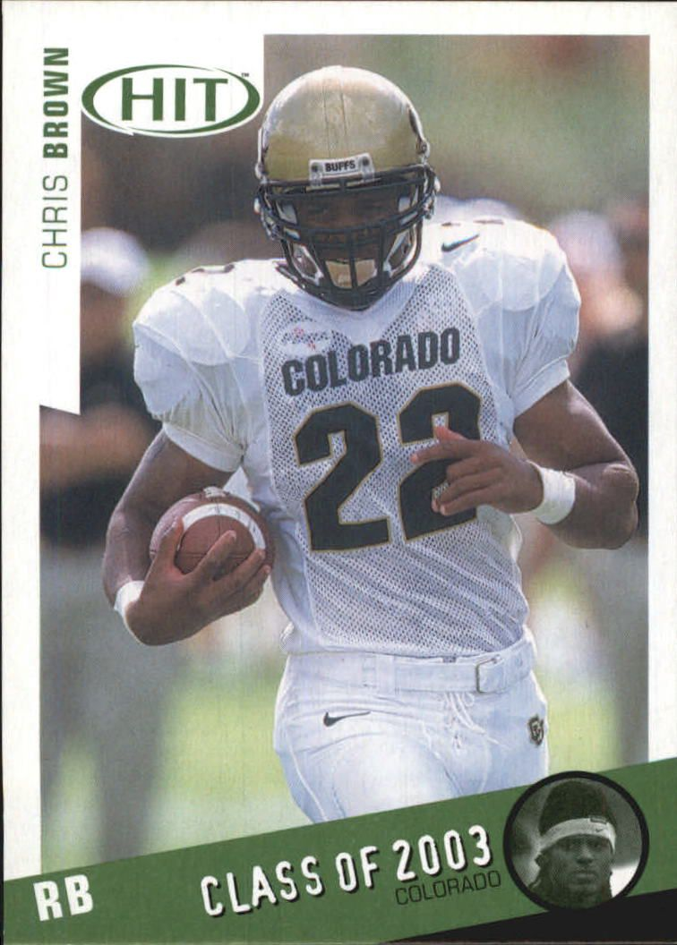 2003 SAGE HIT Class of 2003 Emerald #C23 Chris Brown