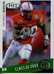 2003 SAGE HIT Class of 2003 Emerald #C30 Dahrran Diedrick