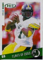 2003 SAGE HIT Class of 2003 Emerald #C37 Brad Banks