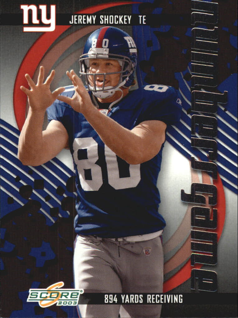 2003 Score Numbers Game #NG26 Jeremy Shockey/894