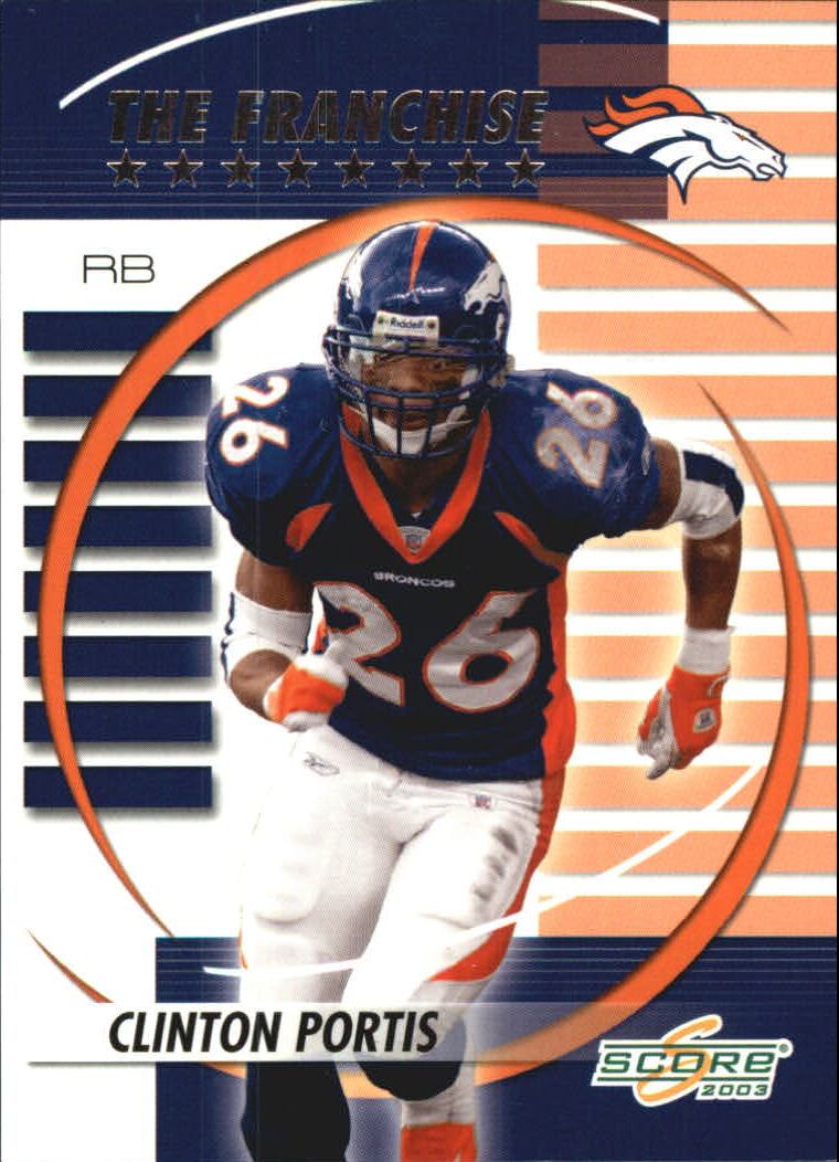 2003 Score The Franchise #TF10 Clinton Portis