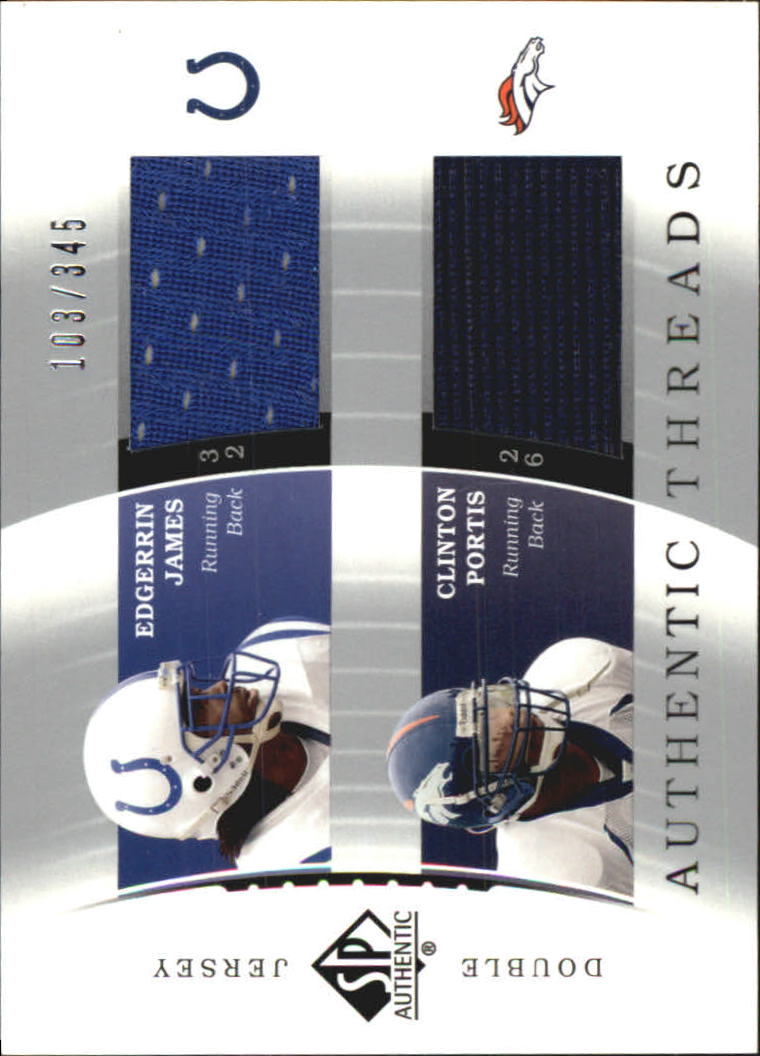 2003 SP Authentic Threads Doubles #EJCP Edgerrin James/Clinton Portis