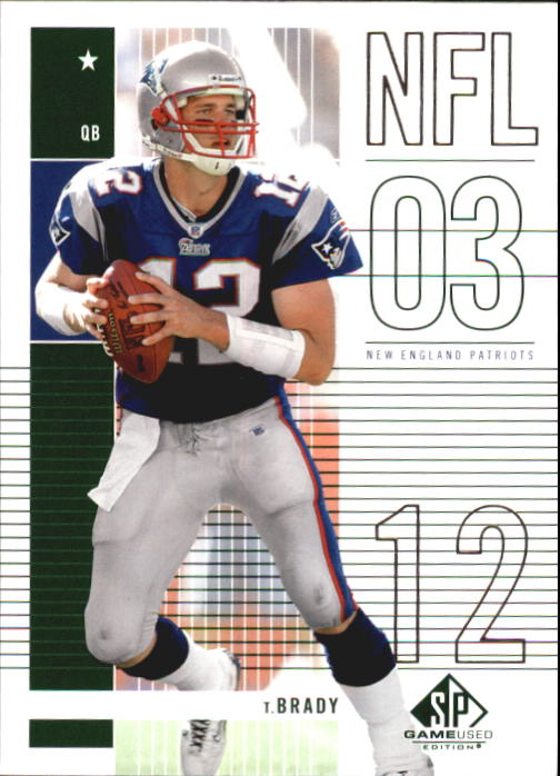 2003 SP Game Used Edition #53 Tom Brady front image