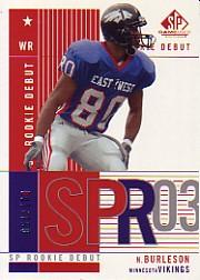 2003 SP Game Used Edition #179 Nate Burleson RC
