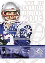 2003 SP Signature #88 Tom Brady