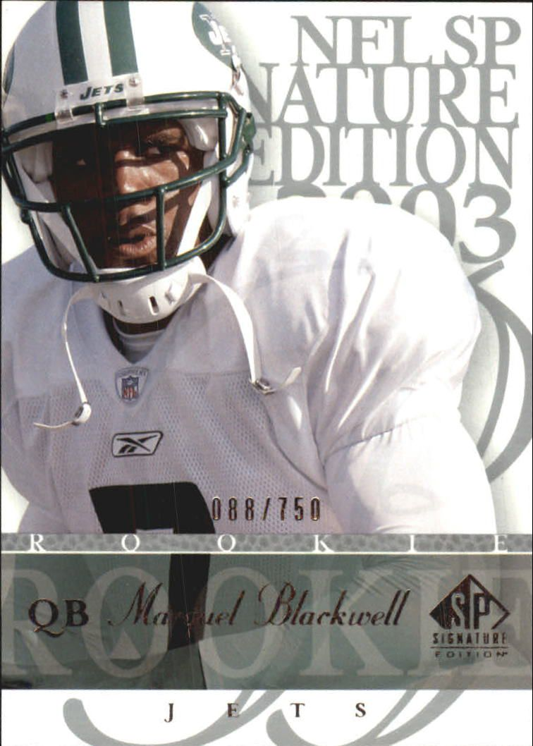2003 SP Signature #104 Marquel Blackwell RC