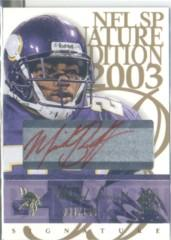 2003 SP Signature Autographs Red Ink #MB Michael Bennett