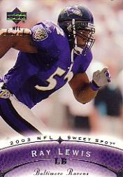 2003 Sweet Spot #56 Ray Lewis