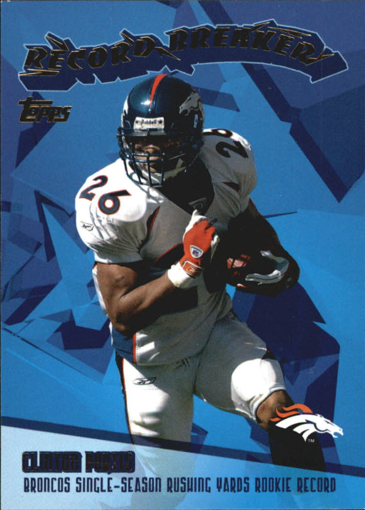 2003 Topps Record Breakers #RB5 Clinton Portis