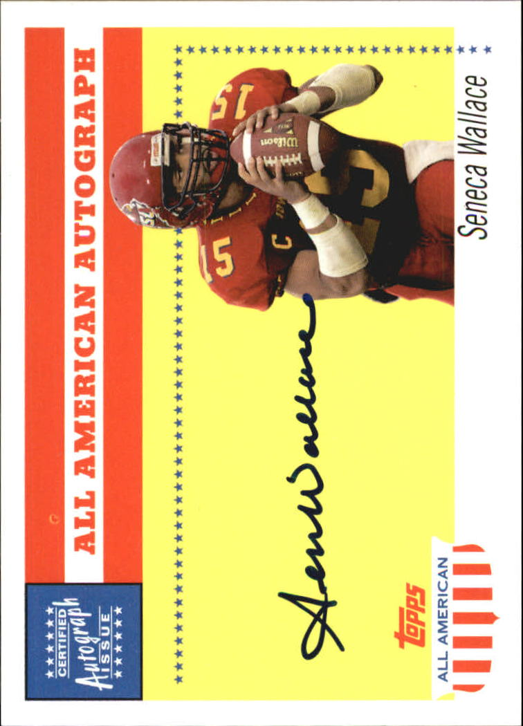 2003 Topps All American Autographs #AASW Seneca Wallace I